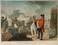 general eliott on the king's bastion, gibraltar, september 13, 1782 by thomas malton the younger