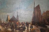 le retour de la pêche by hans adolf hornemann