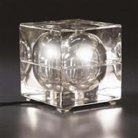 lampada da tavolo cubosfera by alessandro mendini