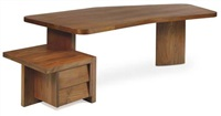 free-form desk by balkrishna doshi and pierre jeanneret