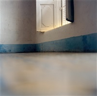 iceland - shower door (+ window with blue skirting board, 2002; 2 works) by elisa sighicelli