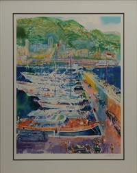 harbor at monaco by leroy neiman