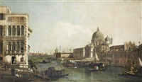 the grand canal with the church of santa maria della salute, venice by bernardo bellotto