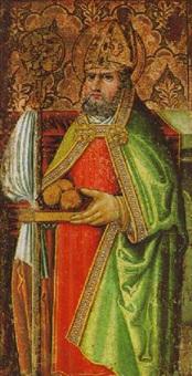 der heilige nilkolaus von bari by michael pacher