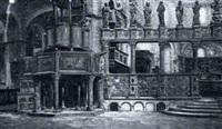 intérieur de l'église saint marc à venise by françois alaux