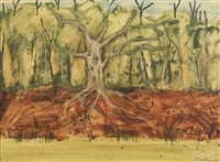murray river tree by albert lee tucker