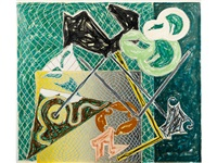 shards v (from shards) by frank stella