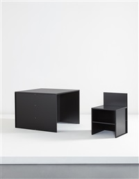 desk #56 and chair #45 by donald judd