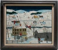 ohio snowy rural scene by janis price