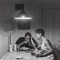 untitled (eating lobster) from the kitchen table by carrie mae weems