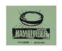 hamburger (green) by andy warhol