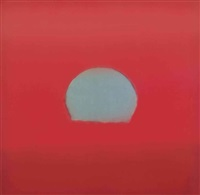sunset: one plate by andy warhol