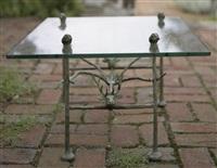 table basse trapézoidale, modèle aux cerfs et aux chiens by diego giacometti