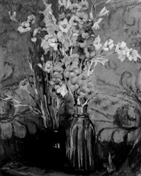 still life with gladiolas by ruth a. (temple) anderson