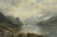 a view of the fjord river by anders monsen askevold