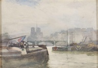 on the seine, paris by robert weir allan