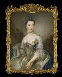 portrait of princess charlotte amalie wilhelmine von schleswig-holstein sonderburg plön, seated by stefano torelli