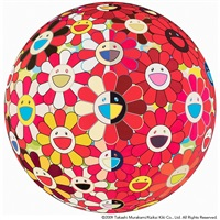 flowerball red (3d) the magic flute by takashi murakami