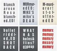 the ed prints (portfolio of 6) by kay rosen