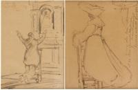 béguine (+ a l'église; 2 works) by alfred napoléon delaunois