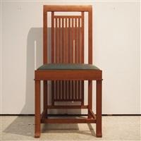 suite de 14 chaises style art-déco, modèle coonley 2 (set of 14) by frank lloyd wright