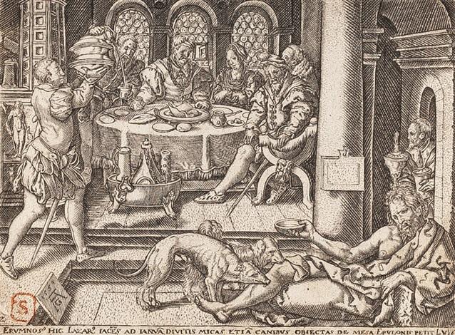 ohne titel from lazarus und der reiche mann by heinrich aldegrever