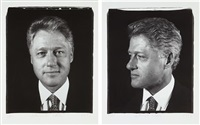untitled (president clinton) diptych, from freedom of expression by chuck close