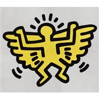 flying angel (from icons series) by keith haring