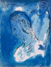 illustrations pour la bible (bk w/29 works) by marc chagall