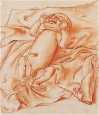karton zum gemälde neugeborenes kind by otto dix