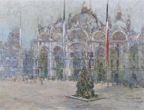 piazza s marco venice by george wharton edwards