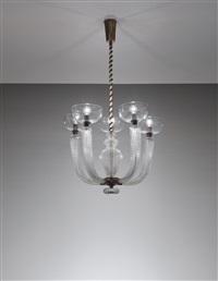five-armed chandelier, model no. 5320 a 5 by carlo scarpa