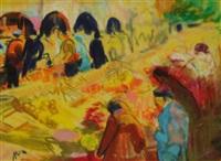 scène de marché by farid aouad