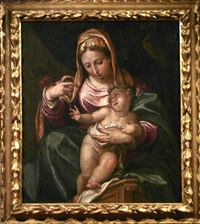 madonna col bambino by paolo farinati