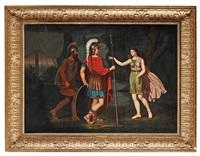 scen ur den grekiska mytologien, trojanska kriget by jonas akerstrom