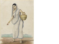 a female servant fetching water by muhammad amir