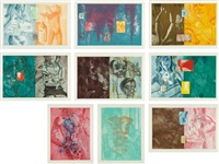 canfield hatfield suite (set of 9) by david salle