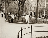 jean-michael basquiat in washington square park by andy warhol