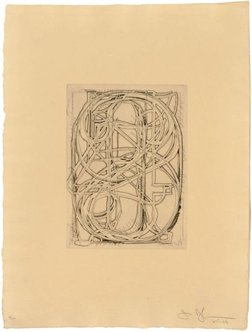 1st etchings 2nd state album of 9 works w title page by jasper johns