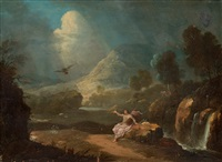 landscape with st. john by gabriel perelle