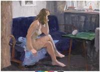 sitting nude by vladimir i. nekrasov