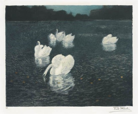 les cygnes by frits thaulow