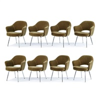 model 71 chairs (8) by eero saarinen