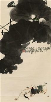 荷花鸳鸯 by zhang shisen