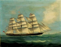 """the british clipper ship """"british commerce"""" calling for a pilot in far eastern waters by anglo-chinese school (19)"""