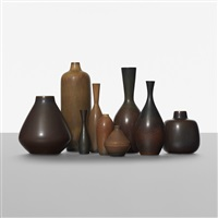 collection of nine vases by carl-harry stålhane