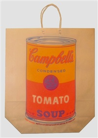 campbell's soup can (tomato soup) shopping by andy warhol