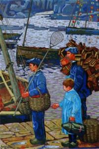 armement pour la pêche à la sardine devant les plomarc'h by raymond louis quillivic
