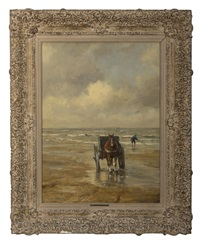 shell fisherman with horse and cart by gerhard arij ludwig morgenstjerne munthe