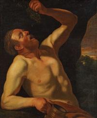 homme à la grappe de raisins (allégorie du goût) by christian van couwenbergh